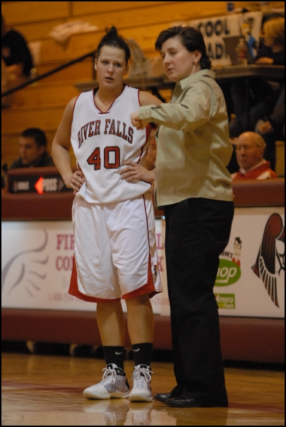 Coach Hovet and Alise Holst