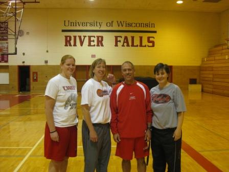 Coach Traci Reimann, Coach Kathy Holbrook, Coach Mike Babler and Head Coach Cindy Holbrook