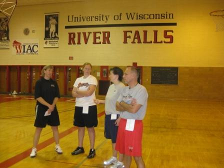 Coach Kathy, Traci, Cindy and Mike